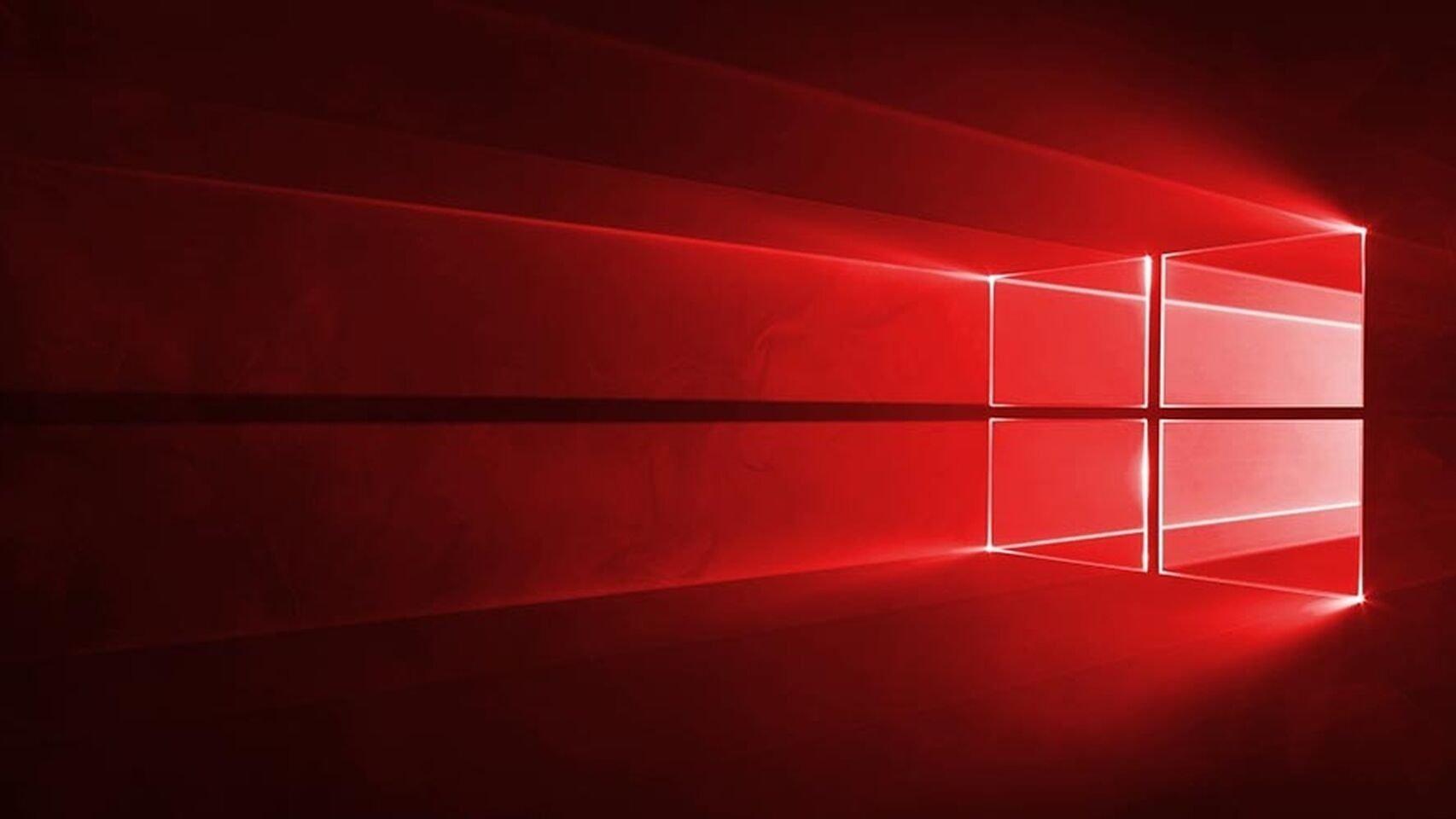 Microsoft windows 10 red
