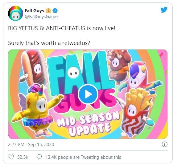 confirmação de anti cheat fall guys