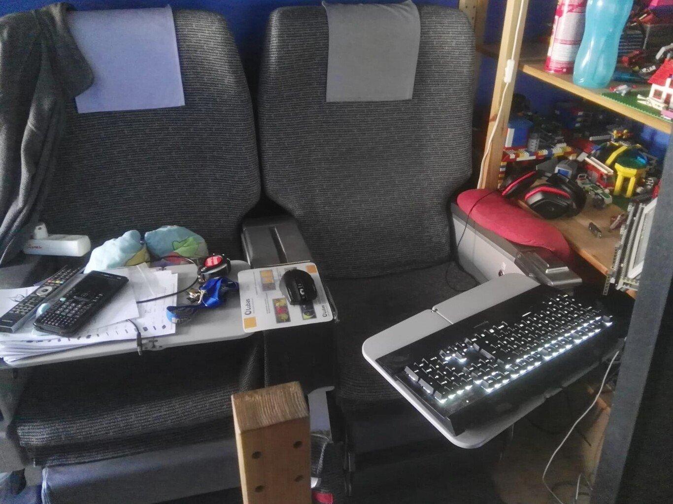cadeira de avião paga gaming
