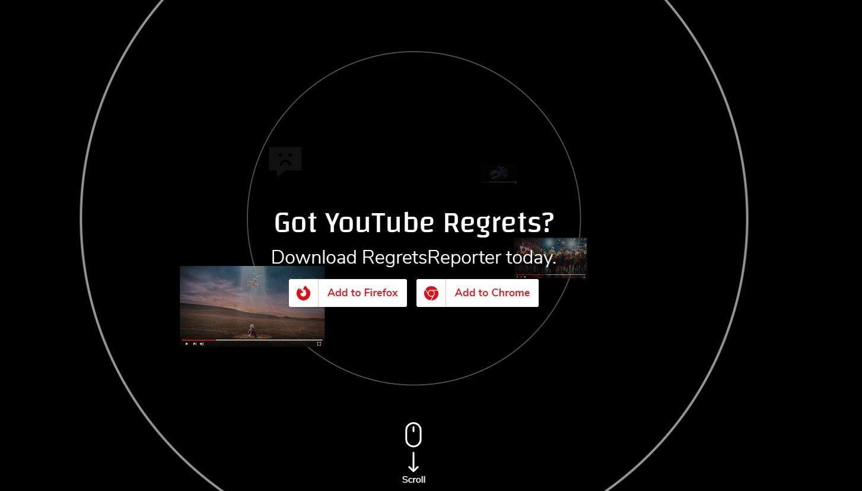 YouTube mozilla regrets