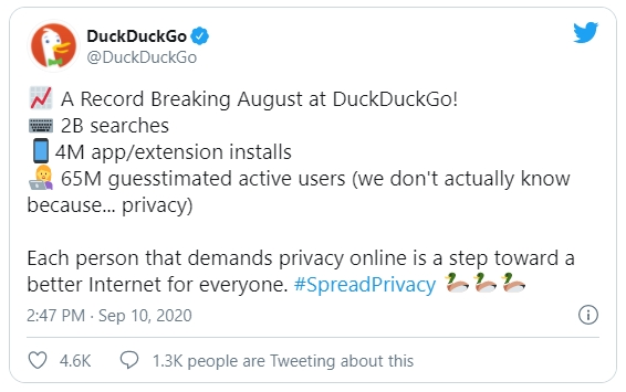 dados DuckDuckGo