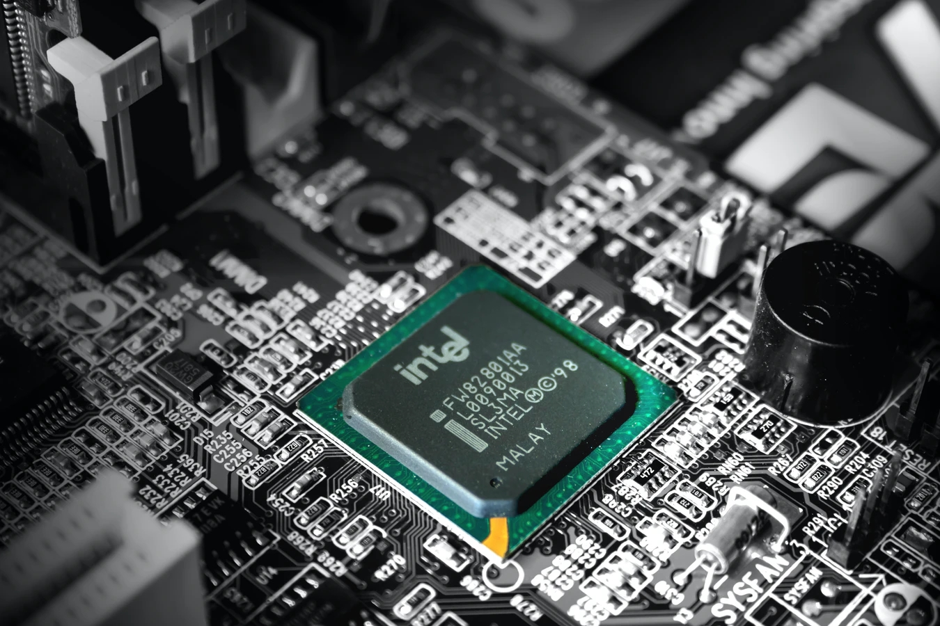 Intel chip em motherboard