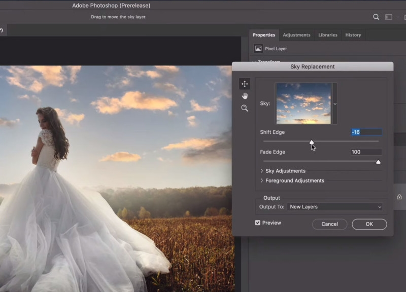 Adobe sky replacement