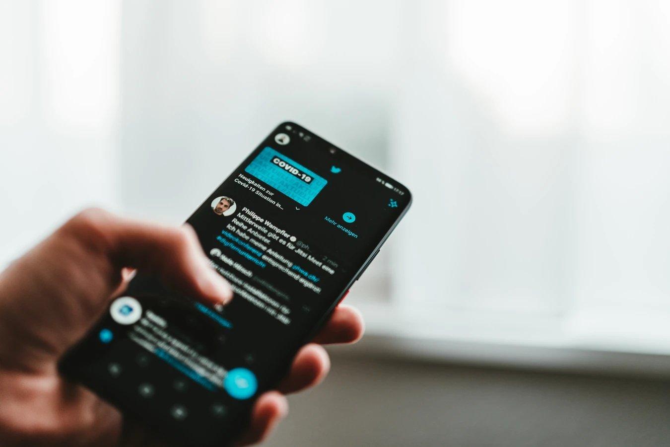 Twitter aplicação mensagens