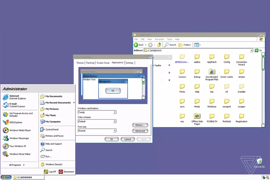 Tema secreto do Windows XP