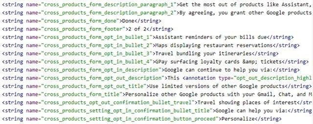 código interno da app em testes