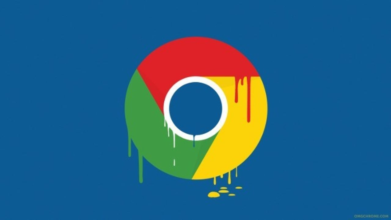 Chrome logo a derreter