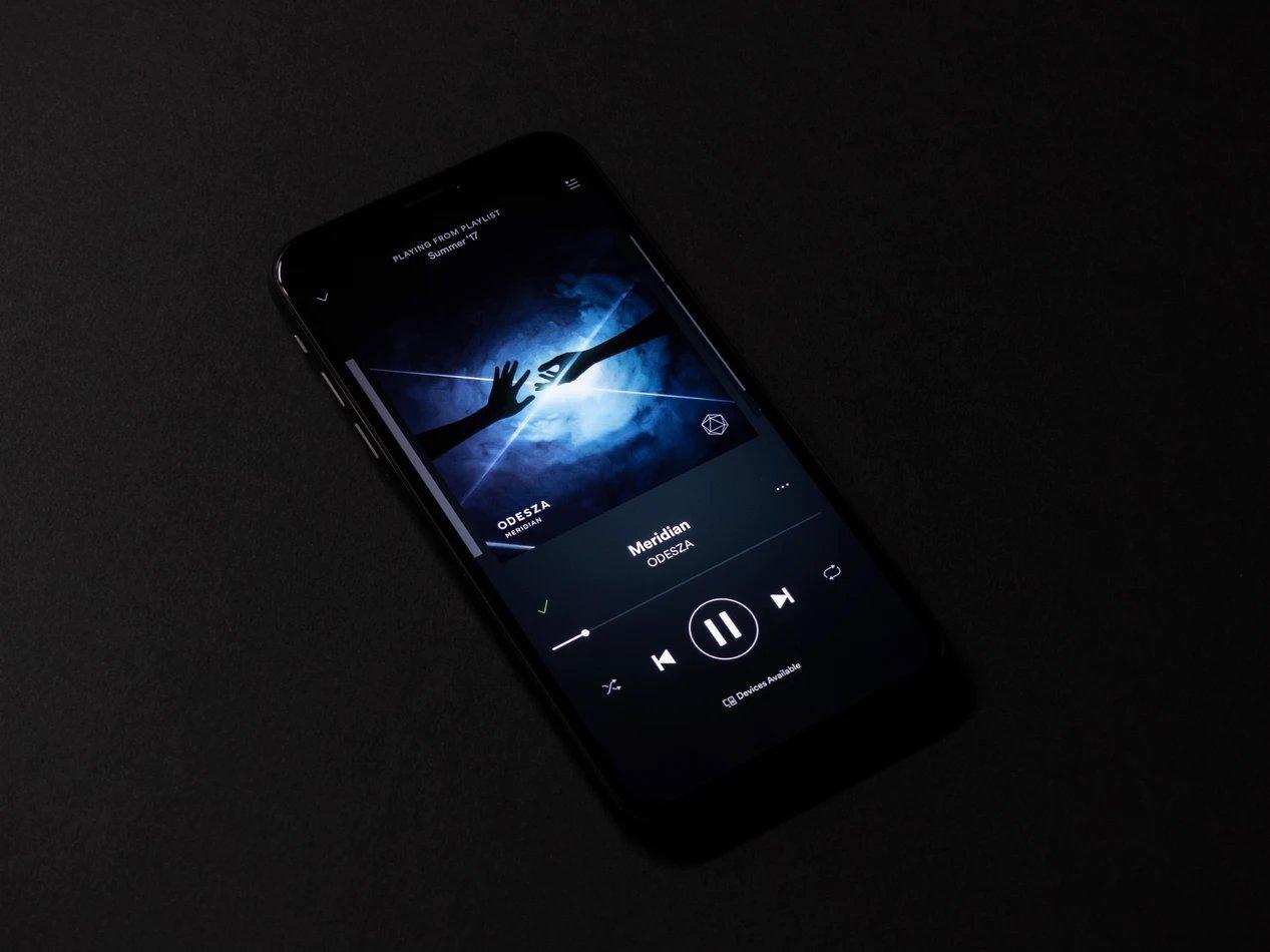 Spotify app smartphone