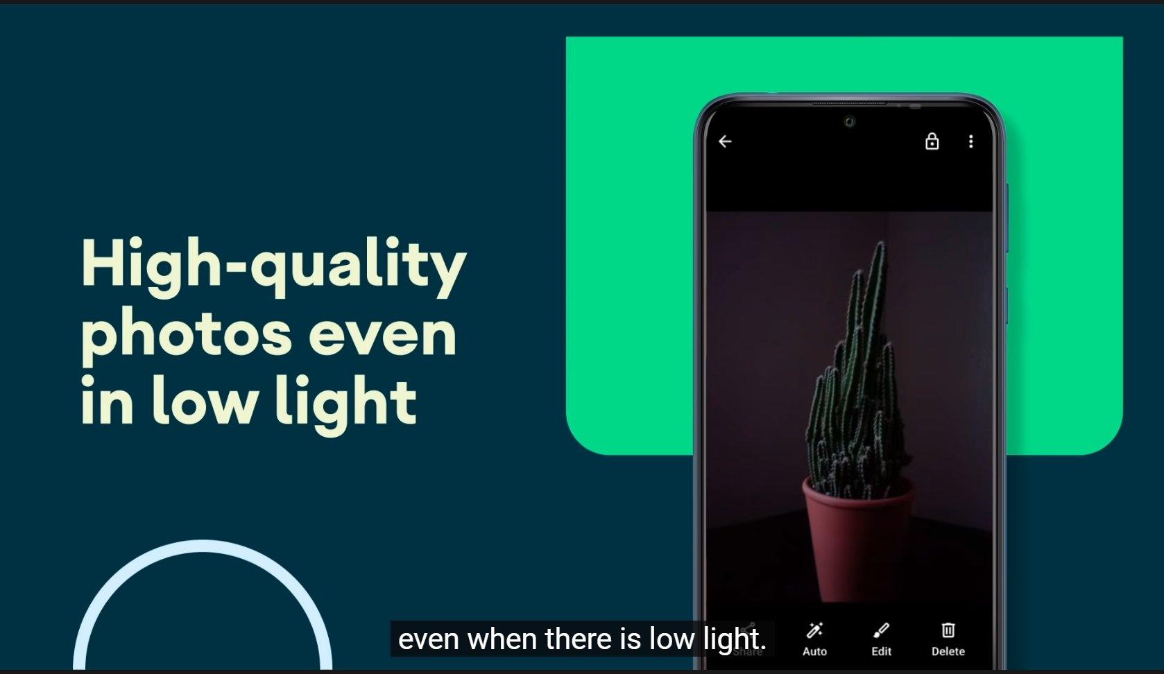 google câmera go low light