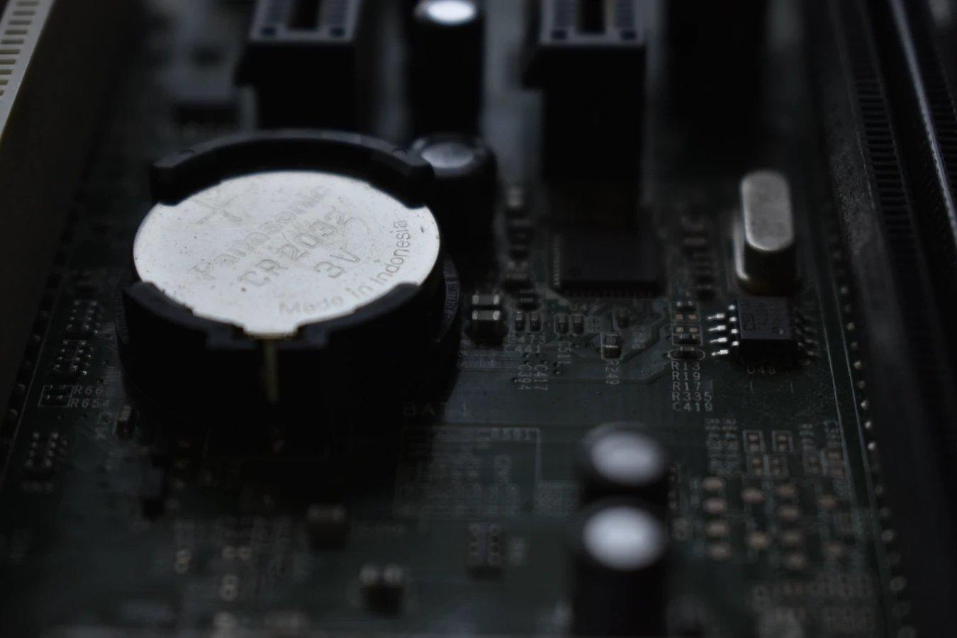 pilha da motherboard
