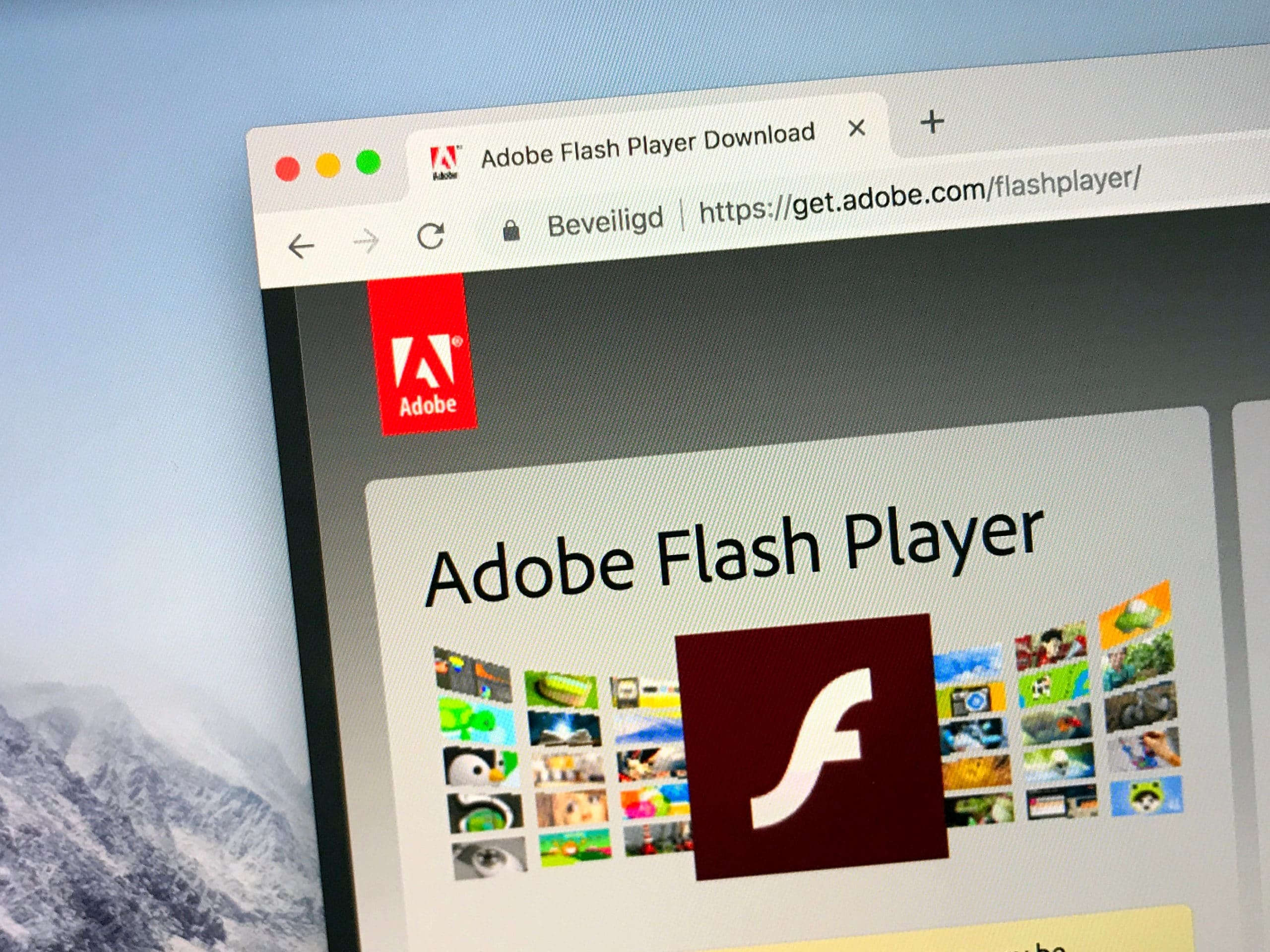 Adobe Flash player site
