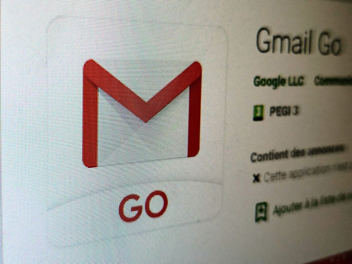 Gmail Go play store