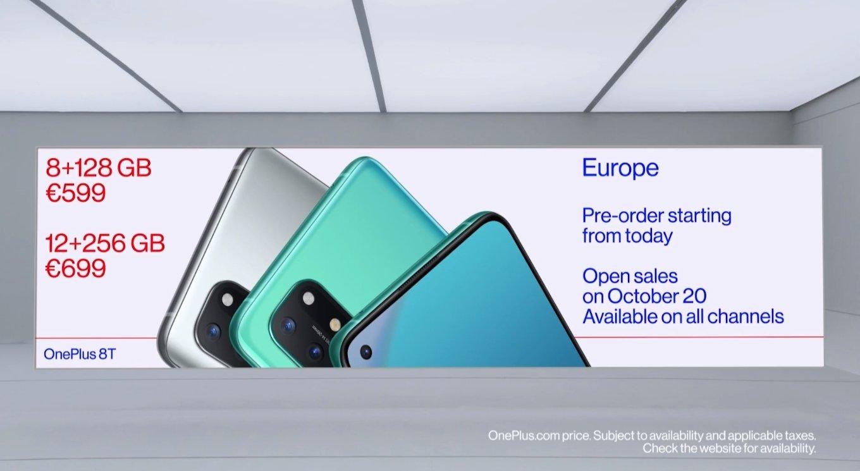 preço OnePlus 8t