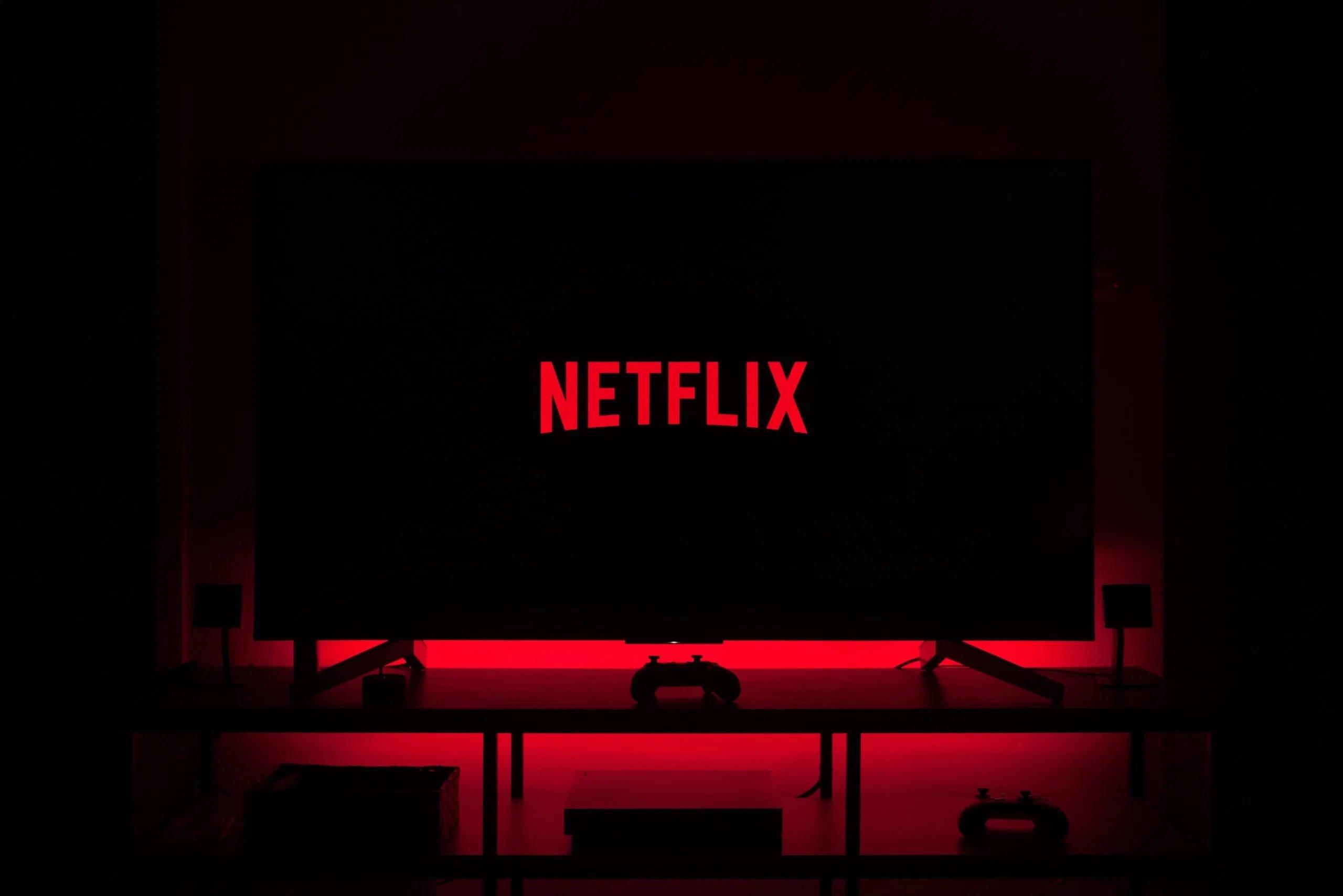 Netflix TV vermelha