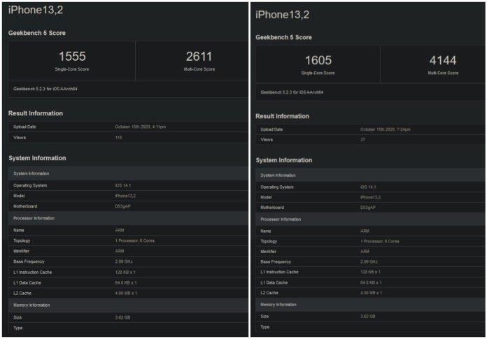 testes de desempenho iPhone 12