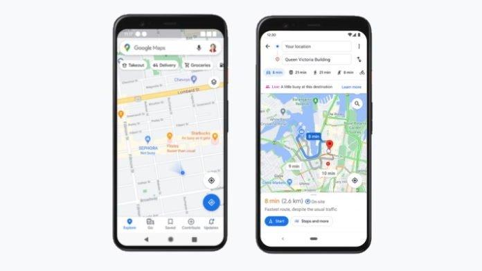 Google maps estado lotação