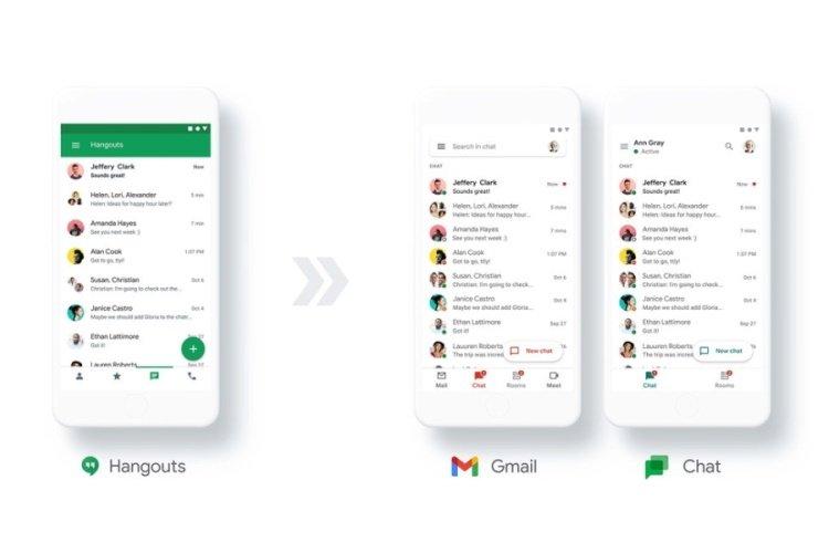 Google hangouts e chat