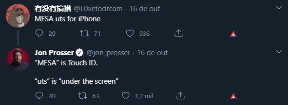 leak sobre touch id no ecrã