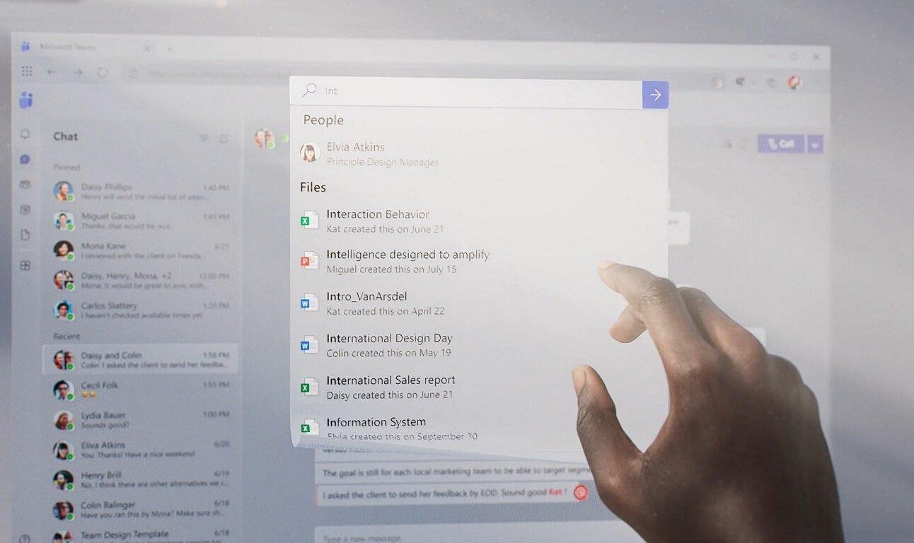 Microsoft Teams novo design