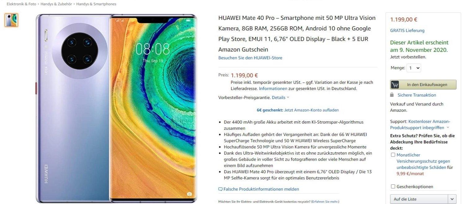 Huawei mate 40 pro preço