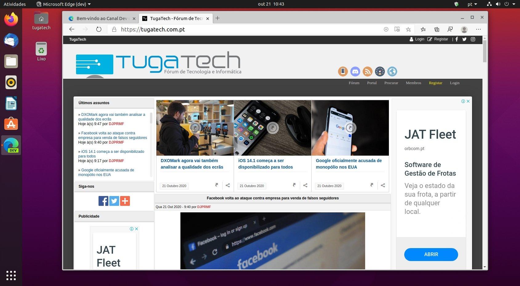Microsoft Edge no Linux