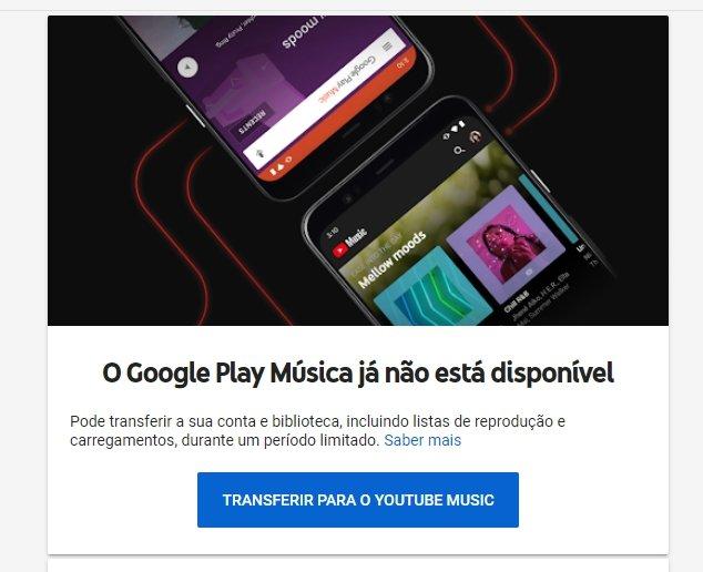 Google play music alerta fim