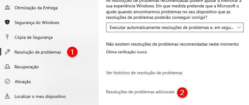 resolver problemas no windows 10