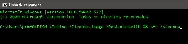 linha de comandos dism e sfc windows 10