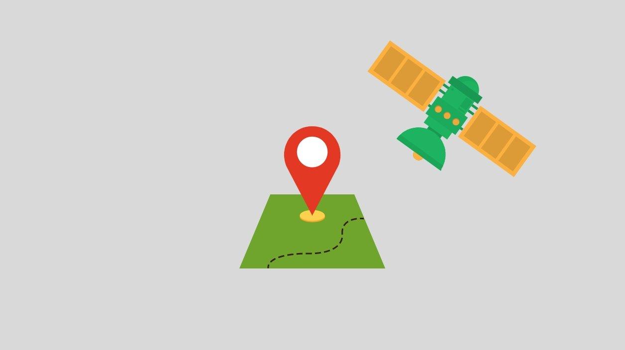 GPS em mapa