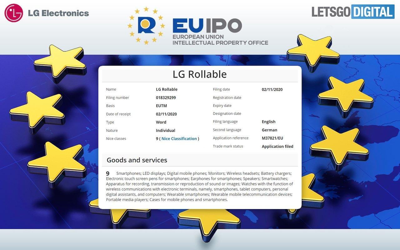 imagem da patente da lg