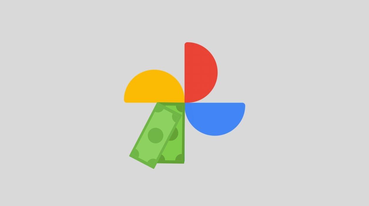 Google Fotos ícone dinheiro