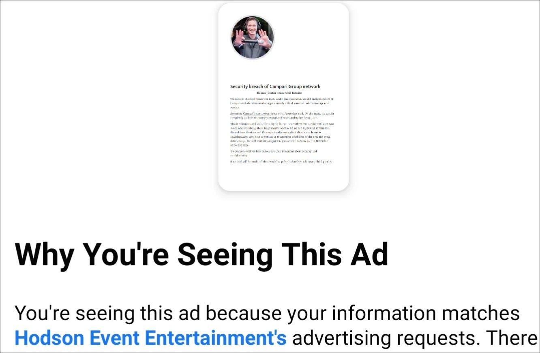 exemplo de campanha maliciosa facebook