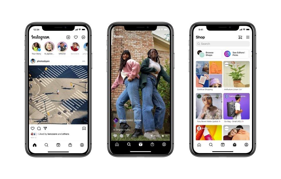 Instagram interface nova 2020