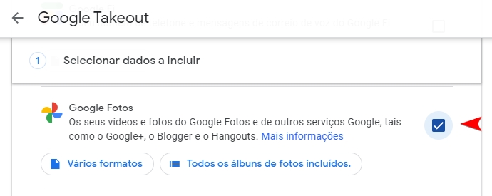google fotos takeout