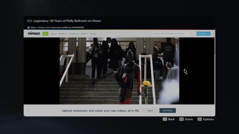 carregamento site navegador ps5