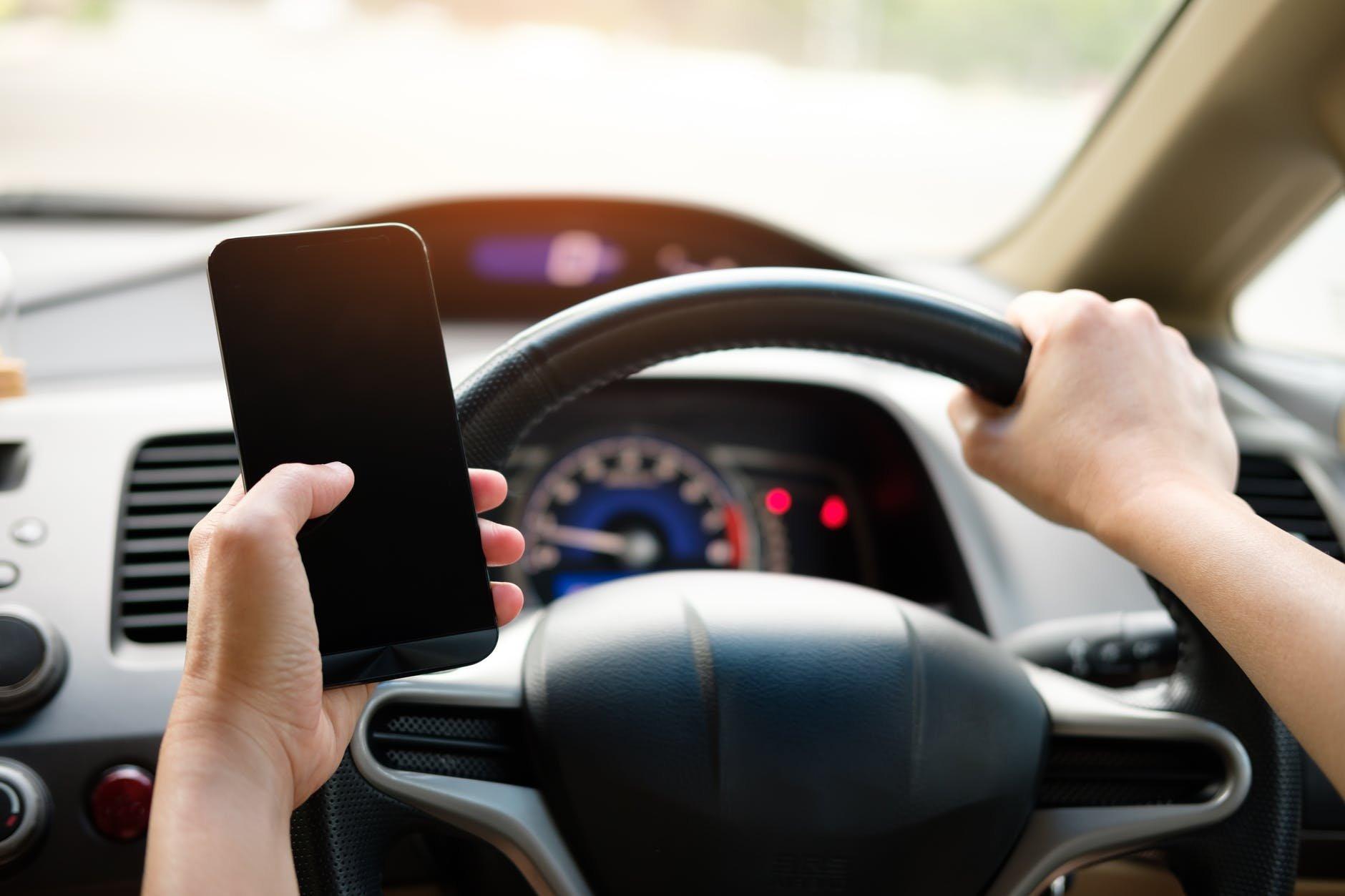 Conduzir com smartphone
