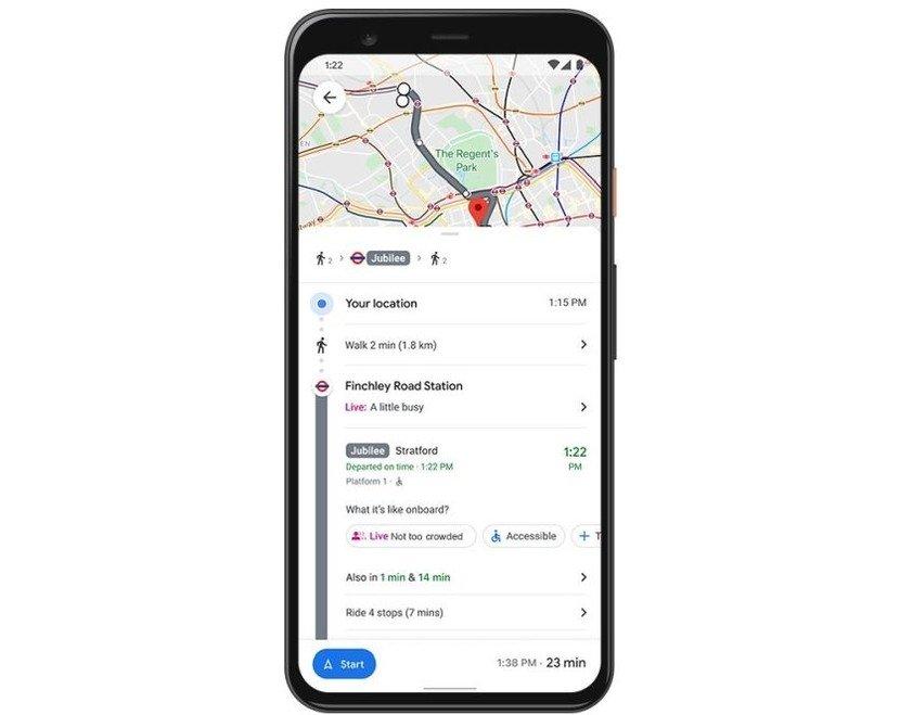 análise trafego pessoas transportes públicos do google maps