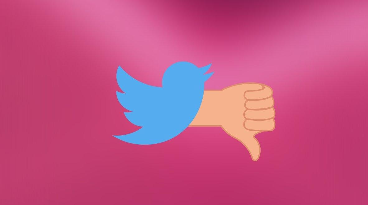 Twitter não gosto