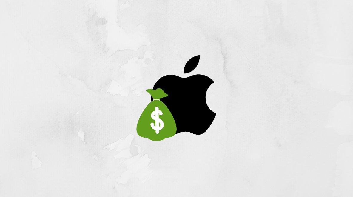 Apple dinheiro comissão app store