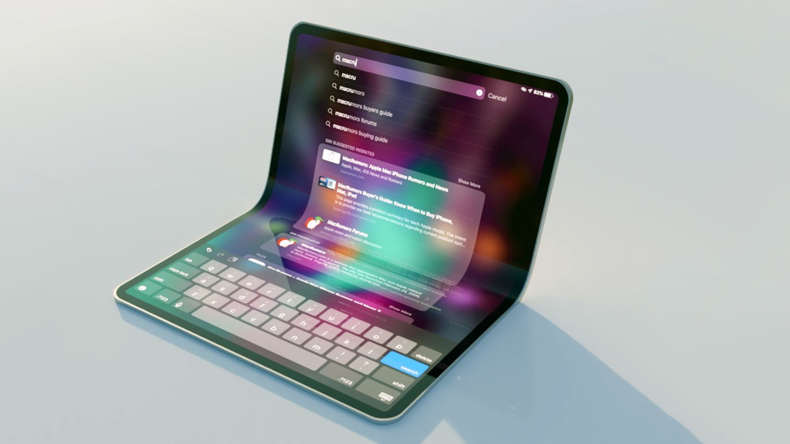 Apple smartphone dobrável