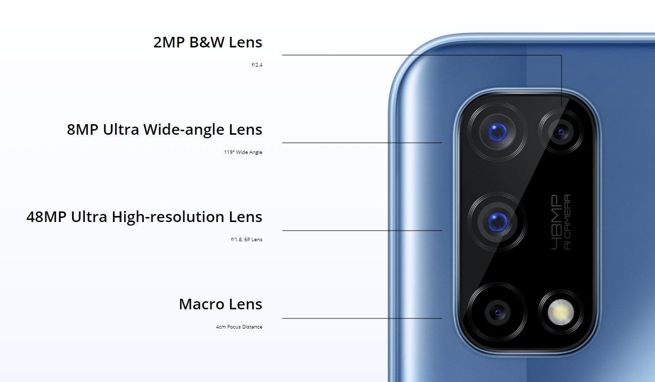 câmara Realme 7 5G