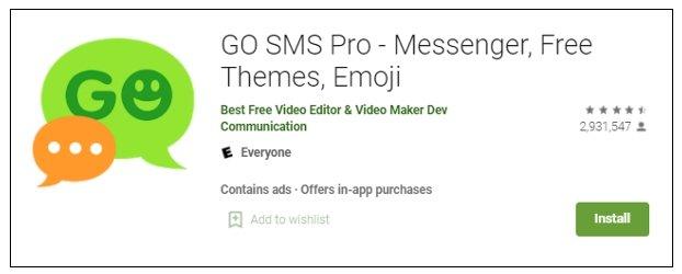 app mensagens go sms pro