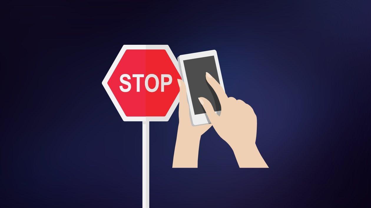 smartphone stop durante andar