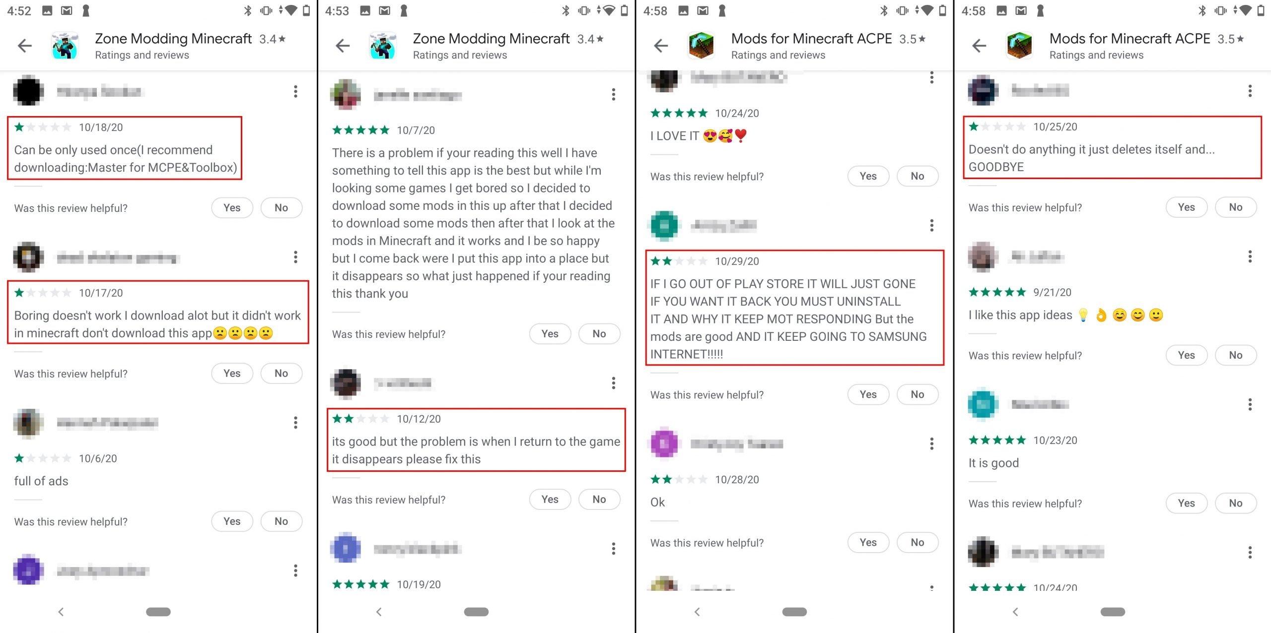 falsas votações apps