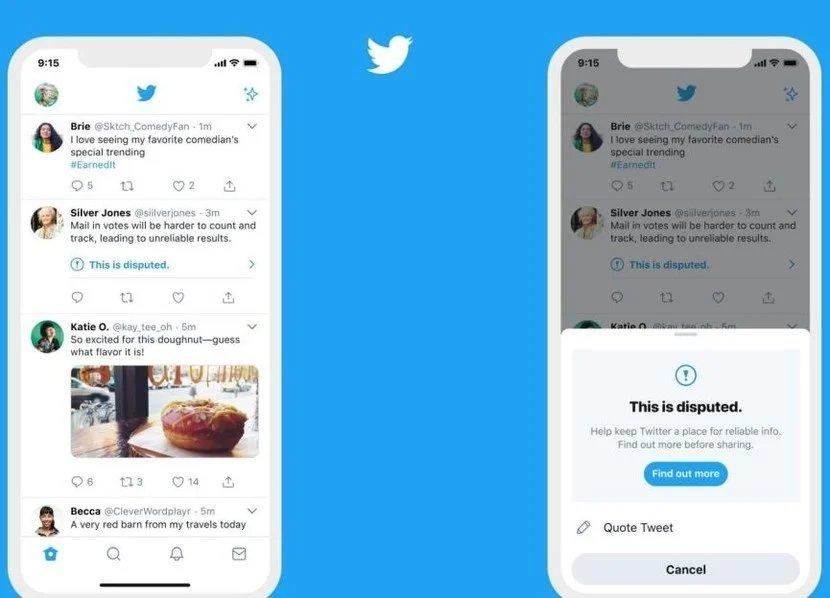 Twitter sistema de alerta gostos