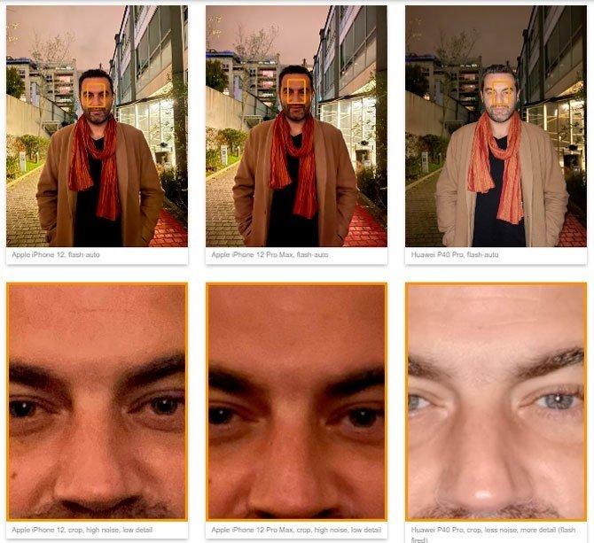 exemplo de fotos capturadas iPhone 12