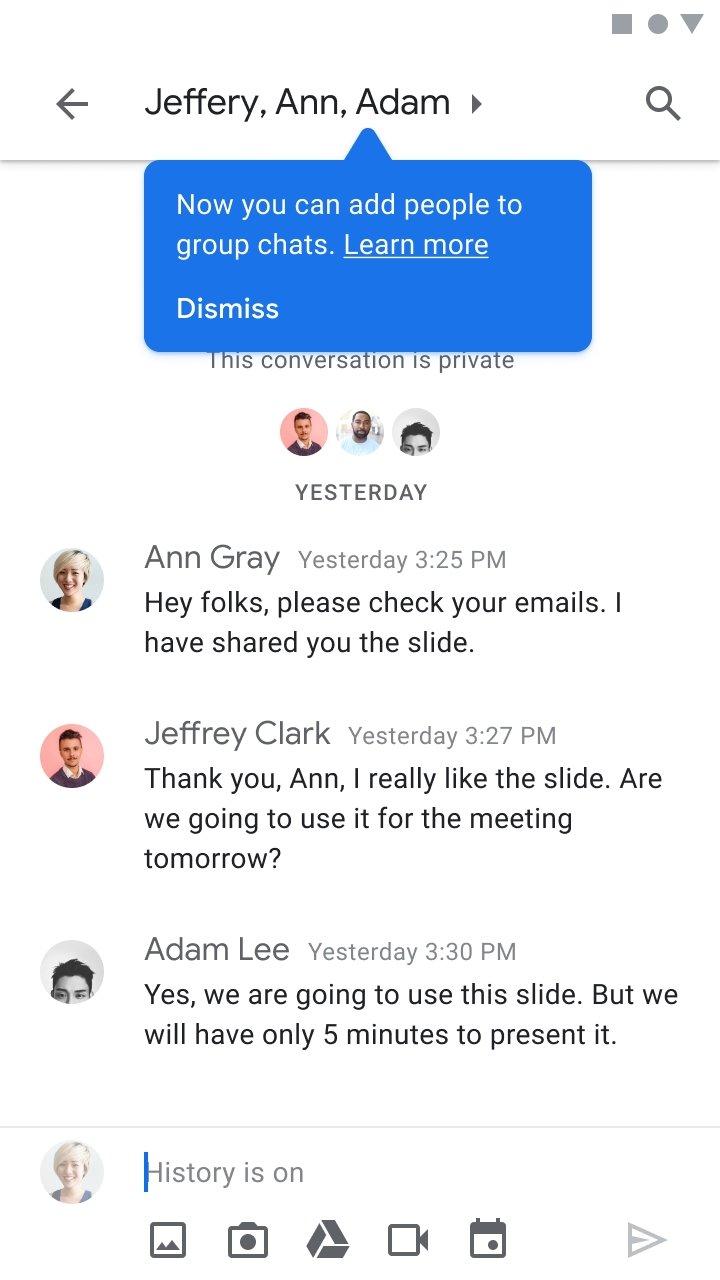 migração de mensagens do hangouts para o google chat