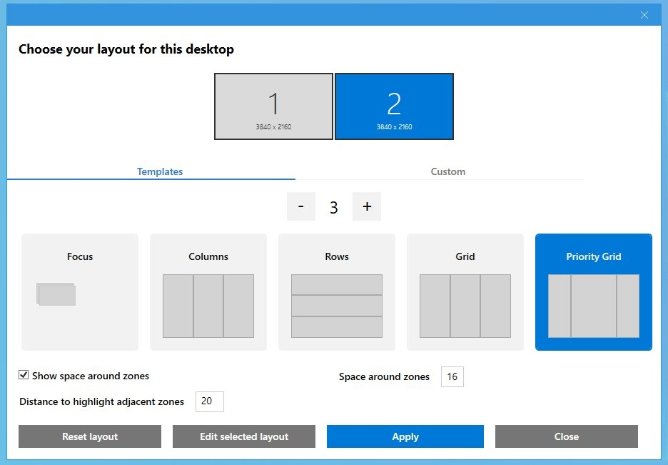 Microsoft powertoys fanzyzones