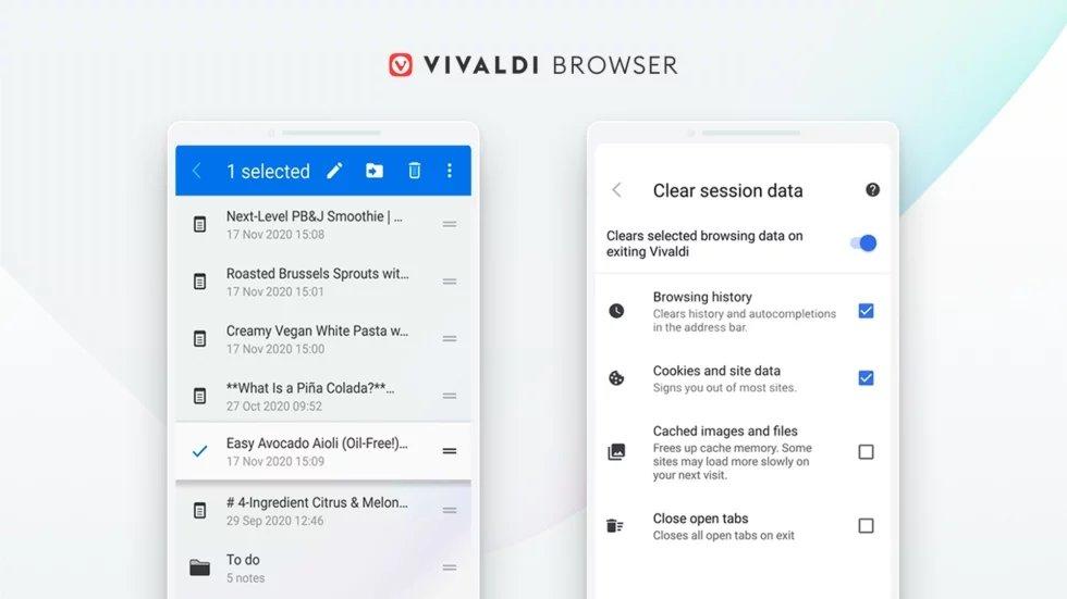 Vivaldi navegador android